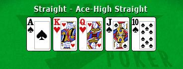 a straight in poker